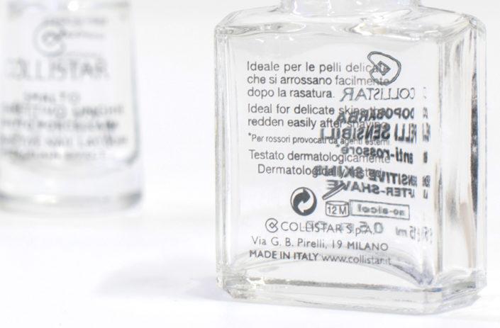 Serigrafia su vetro particolare scritte